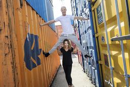 Danspartnern Tobias Karlsson slöt upp vid Magdalena Forsbergs sida under den fjärde veckan.