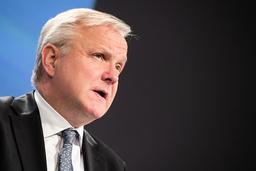 Chefen för Finlands centralbank och tidigare EU-kommissionären Olli Rehn hoppar av kandidaturen till posten som chef för IMF. Arkivbild.
