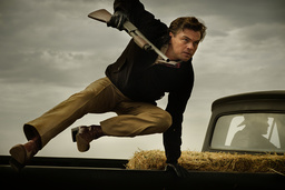Rick Dalton (Leonardo DiCaprio) i 'Once upon a time in Hollywood' är en hård hjälte i sina roller, men en ängslig alkis med ångest i verkligheten. Pressbild.