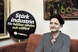 IF Metalls ordförande Marie Nilsson märker också av den avmattade konjunkturen. Arkivbild.